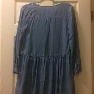 Old Navy Denim Pheasant Dress